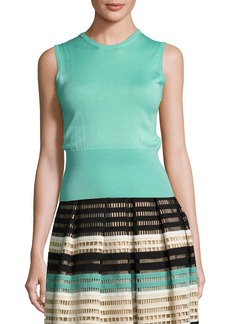 Lela Rose Classic Sleeveless Shell