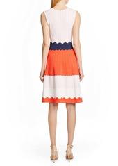 Lela Rose Colorblock Sweater Dress