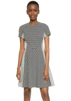 Lela Rose Contrast Panel Dress