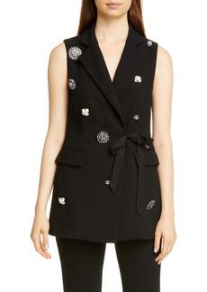 Lela Rose Crystal Embellished Vest