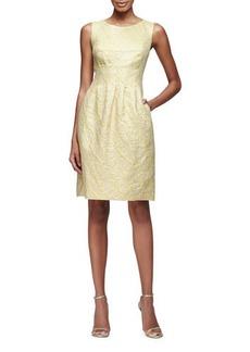 Lela Rose Felicia Classic Sparkle Tweed Sheath Dress