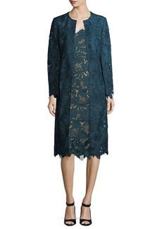 Lela Rose Floral Guipure Lace Coat