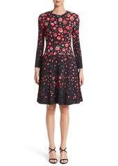 Lela Rose Floral Print Fit & Flare Dress