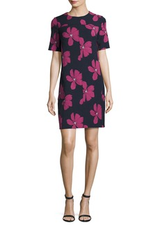 Lela Rose Floral Seamed Tunic Minidress