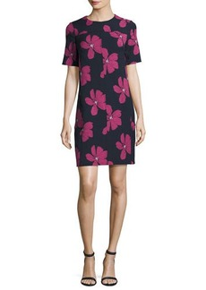 Lela Rose Floral Seamed Tunic Minidress