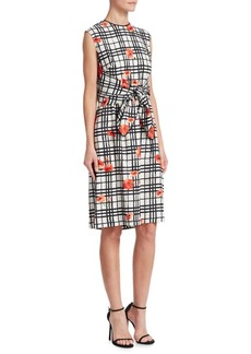 Lela Rose Flower Bow Dress