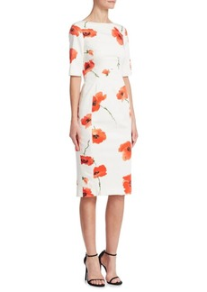 Lela Rose Flower Sheath Dress