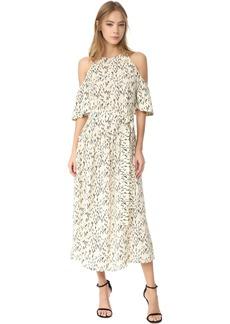 Lela Rose Flutter Sleeve Dress