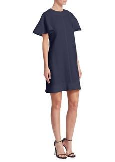 Lela Rose Flutter-Sleeve Shift Dress