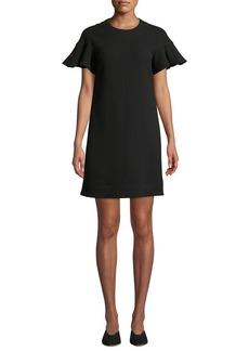 Lela Rose Flutter-Sleeve Tunic Dress