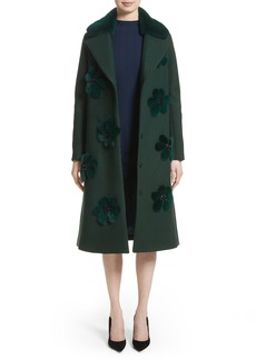 Lela Rose Genuine Mink Fur Flower Coat