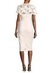 Lela Rose Guipure Lace Sheath Dress