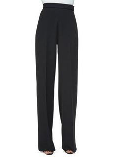 Lela Rose High-Waist Wide-Leg Pants