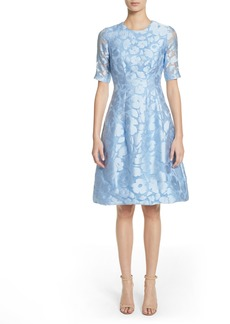 Lela Rose Holly Flower Print Dress