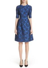 Lela Rose Holly Jacquard Fit & Flare Dress