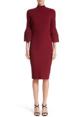 Lela Rose Knit Bell Sleeve Dress