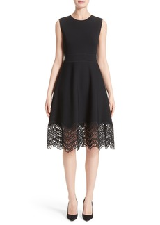 Lela Rose Lace Hem Dress