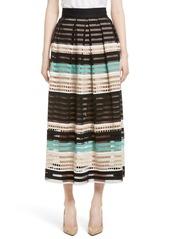 Lela Rose Lace Midi Skirt