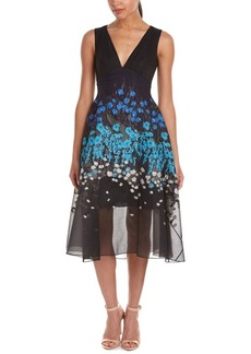 Lela Rose Lela Rose Wool & Silk-Blend Midi...