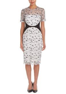 Lela Rose Lela Rose Wool-Blend Sheath Dress
