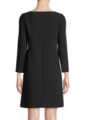 Lela Rose Long-Sleeve Shift Dress