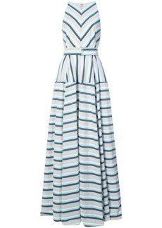 Lela Rose Capitol xx Collection striped maxi dress - Blue