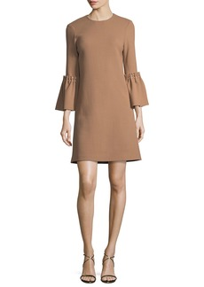 Lela Rose Pearly Beaded Flutter-Sleeve Tunic Dress