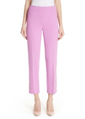 Lela Rose Pearly Button Crop Pants