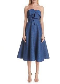 Lela Rose Pebble Brocade Fit & Flare Dress