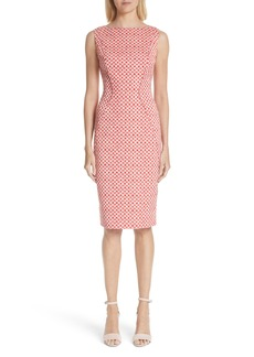 Lela Rose Polka Dot Stretch Jacquard Sheath Dress (Nordstrom Exclusive)