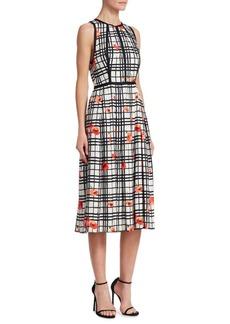 Lela Rose Poppy Halter Dress