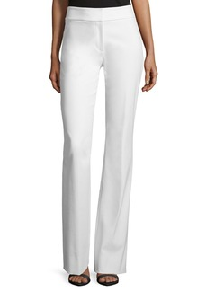 Lela Rose Sam Flare-Leg Twill Pants