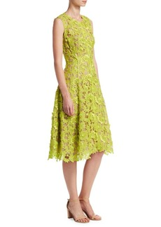 Lela Rose Seamed Lace Dress