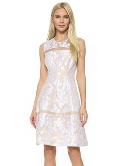 Lela Rose Sheer Insert Dress