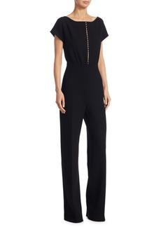 Short-Sleeve Pearl Jumpsuit