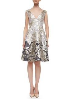 Lela Rose Sleeveless Fit-&-Flare Dress