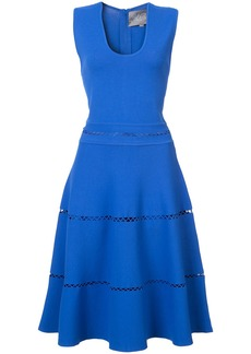 Lela Rose sleeveless flared dress - Blue