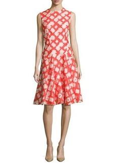 Lela Rose Sleeveless Godet A-Line Dress