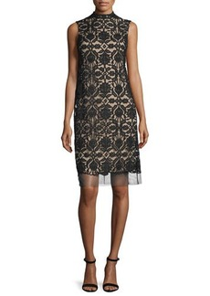Lela Rose Sleeveless Lace Shift Dress