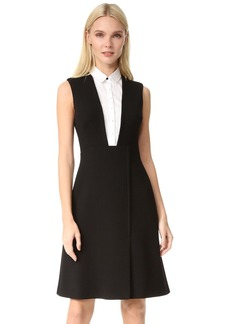 Lela Rose Sleeveless Shirt Dress