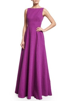 Lela Rose SL GOWN IN MATELASSE