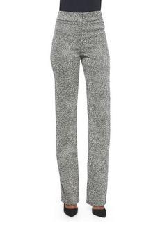 Lela Rose Textured Jacquard Pants