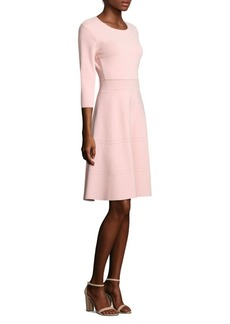 Lela Rose Three Quarter Sleeve Knit Dress