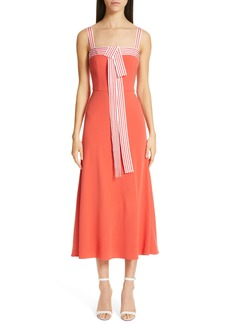 Lela Rose Tie Front Dress