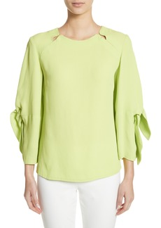 Lela Rose Tie Sleeve Top