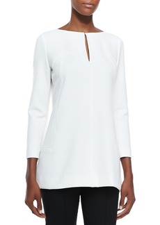Lela Rose Tunic Blouse with Keyhole