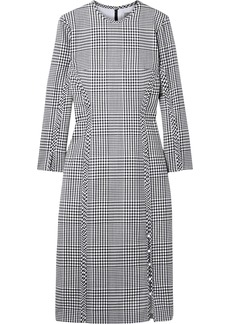 Lela Rose Woman Checked Wool Dress Black