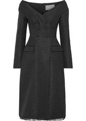 Lela Rose Woman Sequin-embellished Tweed Dress Black