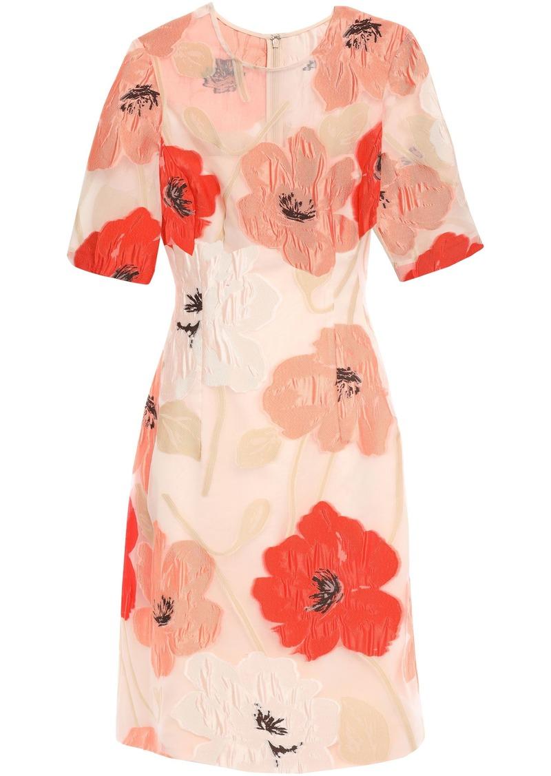 Lela Rose Woman Fil Coupé Organza Dress Pastel Orange