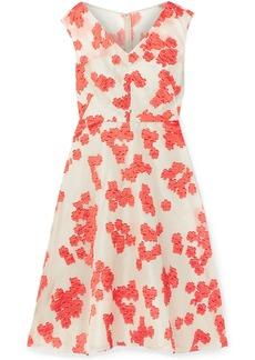Lela Rose Woman Fil Coupé Silk-blend Organza Dress Papaya